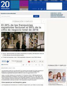 Las franquicias españolas facturan el 80%
