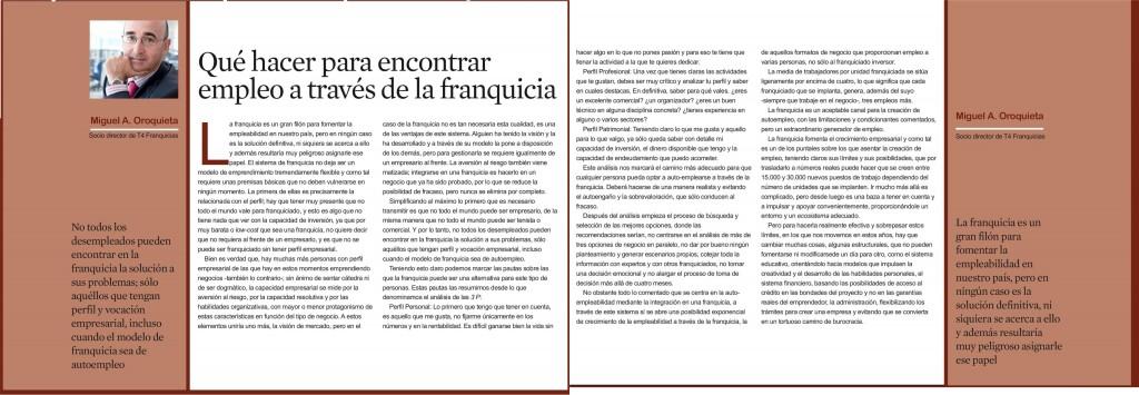 El Economista-Suplemento franquicias y emprendedores- junio 2014