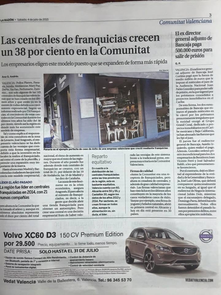4 julio 2015 La Razón Valencia