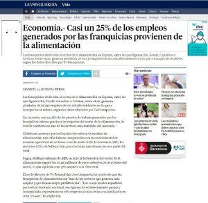 Franquicias dedicadas al sector de la alimentación en España
